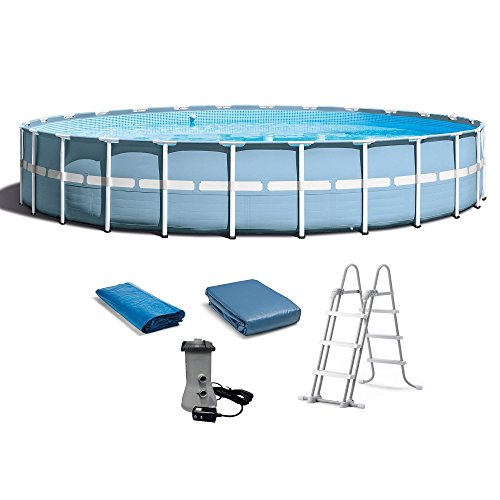 Intex-24ft-X-52in-Prism-Frame-Pool-Set-with-Filter-Pump-Ladder-Ground-Cloth-Pool-Cover-0