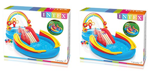 Intex-Rainbow-Ring-Inflatable-Play-Center-117-in-X-76-in-X-53-in-FROGLs-for-Ages-2-2-Pack-0