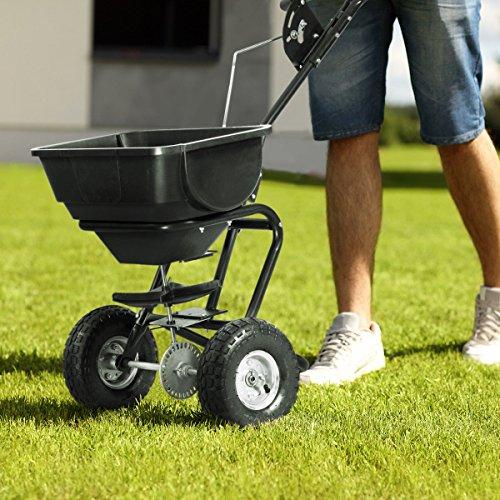 Item-Valley-Broadcast-Spreader-Builder-Garden-Seeder-Push-Walk-Behind-Fertilizer-Black-0