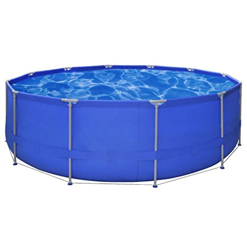 K-Top-Deal-Round-Above-Ground-Swimming-Pools-Steel-Frame-Reinforce-Polyester-Mesh-15-x-4-0