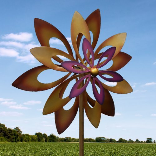 Koehler-Home-Decor-Dancing-Sunflower-Garden-Windmill-Garden-Spinner-0