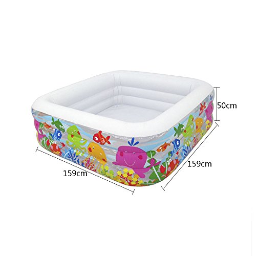 LZTET-Child-Inflatable-Pool-Family-Portable-Folding-Bath-Tub-Garden-Outdoor-Oversized-Swimming-Playing-Pool-Paddling-Pool-Aquatic-Creatures-Pattern-15915950cm-0-0