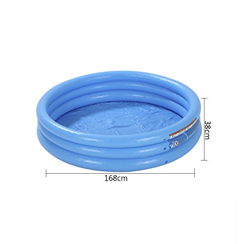 LZTET-Child-Inflatable-Pool-Family-Portable-Folding-Bath-Tub-Garden-Outdoor-Swimming-Playing-Pool-Crystal-Blue-3-Ring-Inflatable-Paddling-Pool-0-0