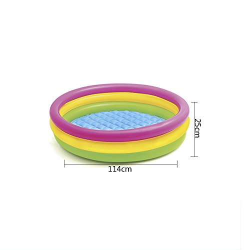LZTET-Child-Inflatable-Pool-Family-Portable-Folding-Bath-Tub-Garden-Outdoor-Swimming-Playing-Pool-Paddling-Pool-Colorful-4-Ring-0-2