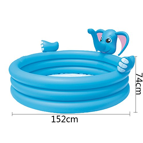 LZTET-Fast-Set-Round-Inflatable-Family-Swimming-Pool-Folding-Tub-Garden-Outdoor-Swimming-Playing-Pool-Paddling-Pool-Crystal-Blue-3-Ring-15274cm-0-0