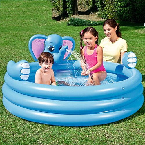 LZTET-Fast-Set-Round-Inflatable-Family-Swimming-Pool-Folding-Tub-Garden-Outdoor-Swimming-Playing-Pool-Paddling-Pool-Crystal-Blue-3-Ring-15274cm-0-1