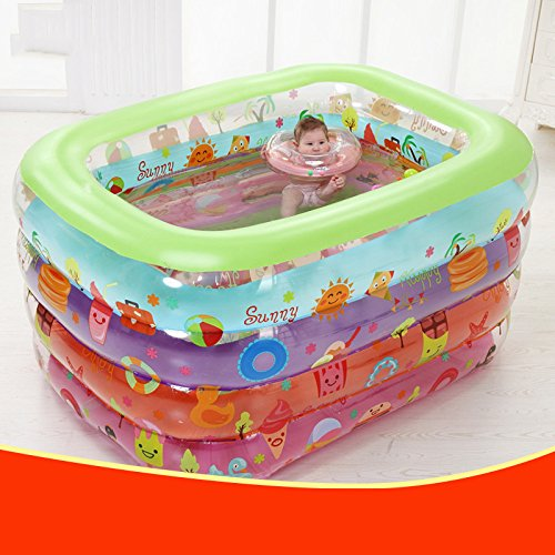 LZTET-Inflatable-Family-Pool-Folding-Tub-Kids-Pool-Multi-layer-Inflatable-Bathtub-Garden-Outdoor-Swimming-Playing-Pool-Paddling-Pool-14011080cm-0-2