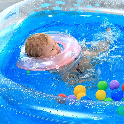 LZTET-Inflatable-Family-Pool-Folding-Tub-Kids-Pool-Multi-layer-Inflatable-Bathtub-Garden-Outdoor-Swimming-Playing-Pool-Paddling-Pool-Crystal-Blue-1159575cm-0-0