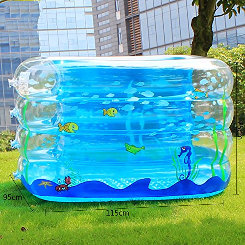 LZTET-Inflatable-Family-Pool-Folding-Tub-Kids-Pool-Multi-layer-Inflatable-Bathtub-Garden-Outdoor-Swimming-Playing-Pool-Paddling-Pool-Crystal-Blue-1159575cm-0-1