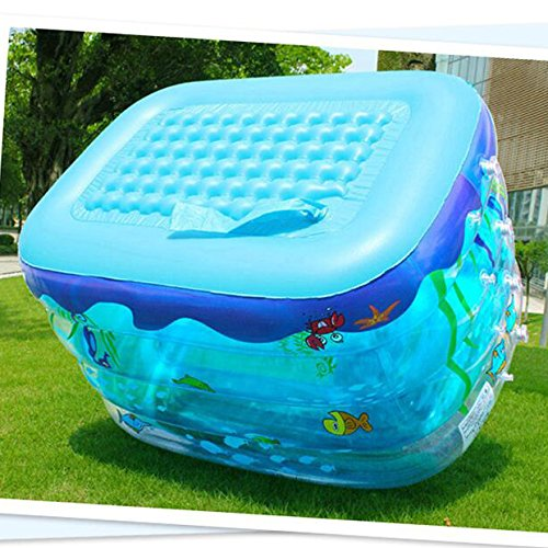 LZTET-Inflatable-Family-Pool-Folding-Tub-Kids-Pool-Multi-layer-Inflatable-Bathtub-Garden-Outdoor-Swimming-Playing-Pool-Paddling-Pool-Crystal-Blue-1159575cm-0-2