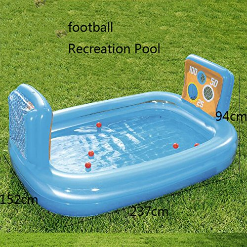 LZTET-Rectangular-Inflatable-Family-Pool-Folding-Bathtub-Garden-Outdoor-Oversized-Football-Recreational-Pool-Paddling-Pool-Crystal-Blue-2-Ring-23715294cm-0-0