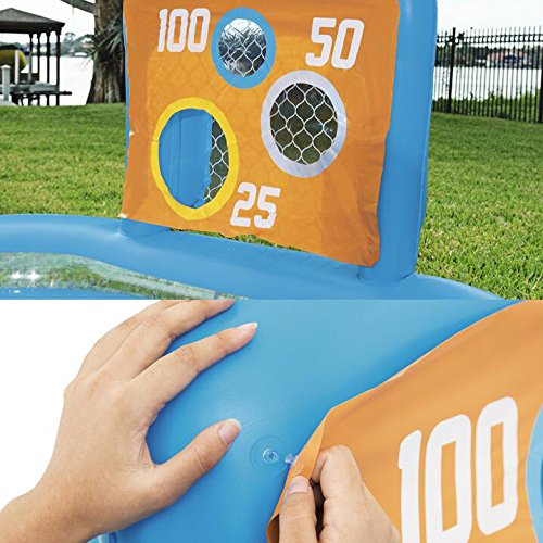 LZTET-Rectangular-Inflatable-Family-Pool-Folding-Bathtub-Garden-Outdoor-Oversized-Football-Recreational-Pool-Paddling-Pool-Crystal-Blue-2-Ring-23715294cm-0-2