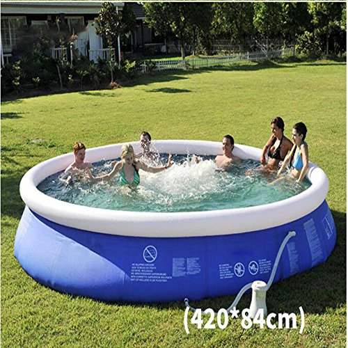 Large-Luxury-Inflatable-Family-Pool-Circular-Fast-Set-Round-Folding-Tub-Garden-Outdoor-Swimming-Playing-Pool-Paddling-Pool-Size-Optional-Sky-Blue-0-2