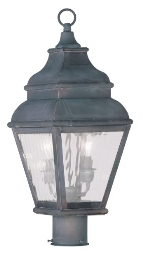 Livex-Exeter-2603-07-2-Light-Outdoor-Post-Head-in-Bronze-0