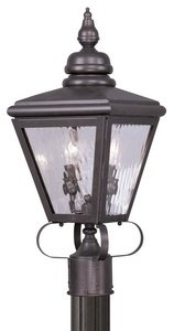 Livex-Lighting-2032-07-Outdoor-Post-with-Clear-Water-Glass-Shades-Bronze-0