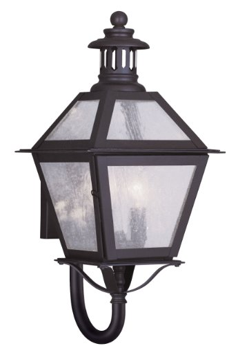 Livex-Lighting-2041-07-Outdoor-Wall-Lantern-with-Seeded-Glass-Shades-Bronze-0