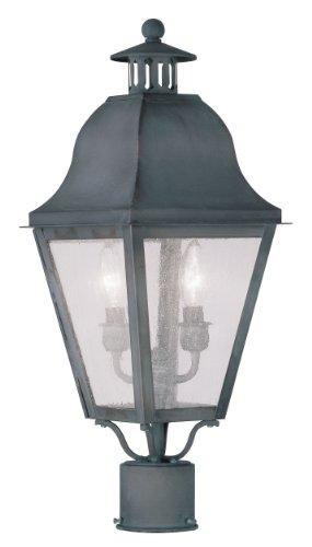 Livex-Lighting-2552-61-Amwell-2-Light-Outdoor-Post-Head-Charcoal-0