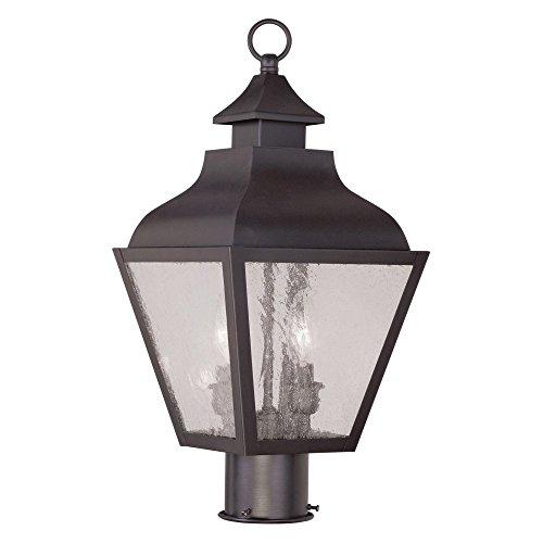 Livex-Vernon-2452-07-2-Light-Outdoor-Post-Head-in-Bronze-0
