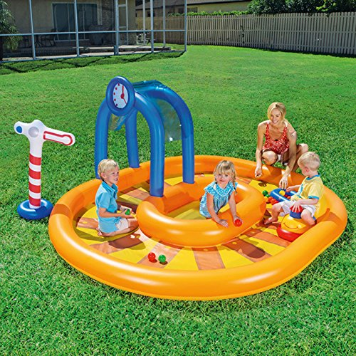 Longwei-Childrens-pool-Inflatable-ocean-Ball-Pool-baby-Paddling-pool-Thicken-Sand-pool-yellow-2-4-people-0