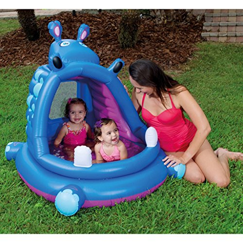 Longwei-swimming-pool-Shade-Inflatable-Paddling-pool-baby-Sand-pool-bathtub-Ball-Pool-hippo-blue-0-1