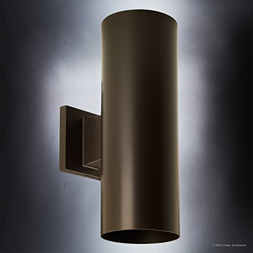 Luxury-Contemporary-Outdoor-Wall-Light-Medium-Size-14H-x-5W-with-Art-Deco-Style-Elements-Olde-Bronze-Finish-UHP1060-from-The-Hollywood-Collection-by-Urban-Ambiance-0-1