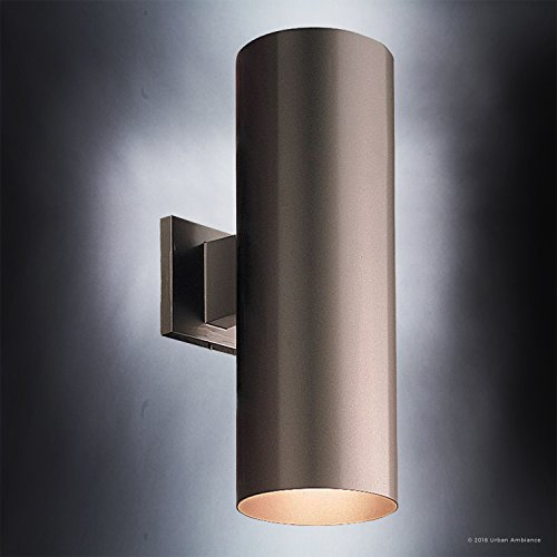Luxury-Contemporary-Outdoor-Wall-Light-Medium-Size-18H-x-6W-with-Art-Deco-Style-Elements-Olde-Bronze-Finish-UHP1065-from-The-Hollywood-Collection-by-Urban-Ambiance-0-2