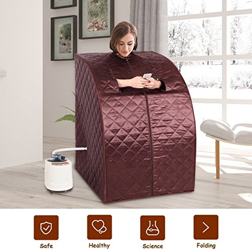 MD-Group-Portable-Steam-Sauna-Tent-Household-2L-Coffee-Color-Full-Body-Detox-Massage-Weight-Loss-with-Chair-0-0