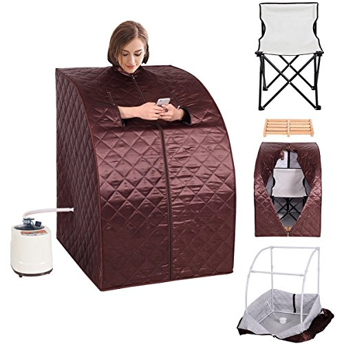 MD-Group-Portable-Steam-Sauna-Tent-Household-2L-Coffee-Color-Full-Body-Detox-Massage-Weight-Loss-with-Chair-0-1