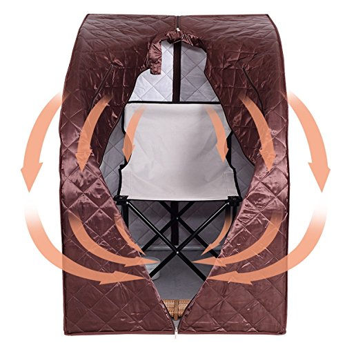 MD-Group-Portable-Steam-Sauna-Tent-Household-2L-Coffee-Color-Full-Body-Detox-Massage-Weight-Loss-with-Chair-0-2
