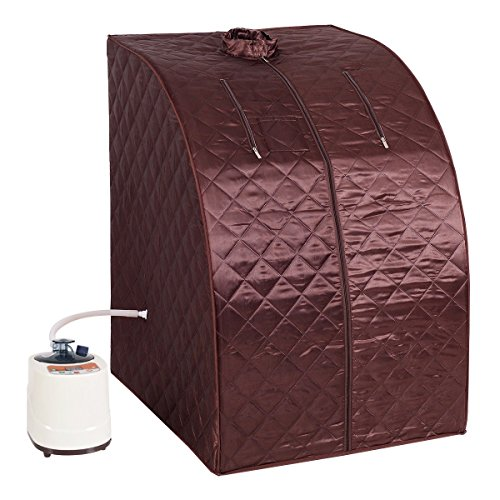 MD-Group-Portable-Steam-Sauna-Tent-Household-2L-Coffee-Color-Full-Body-Detox-Massage-Weight-Loss-with-Chair-0
