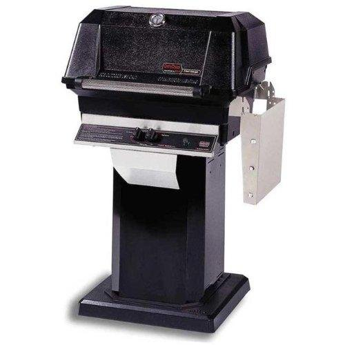 Mhp-Gas-Grills-Jnr4dd-Natural-Gas-Grill-W-Stainless-Grids-On-Black-Patio-Base-0