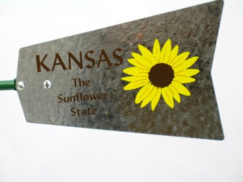 Mini-17-Inch-Made-in-USA-Windmill-galvanized-Steel-Yellow-Brown-Green-Trim-Kansas-Tail-0-2