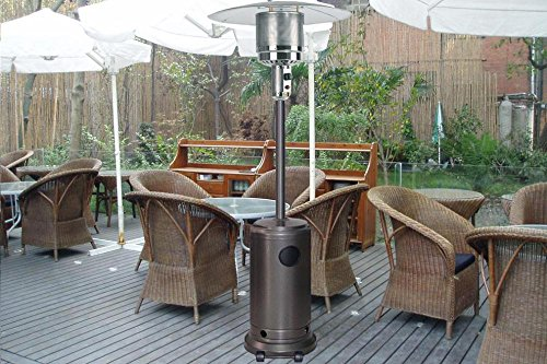 Mocha-Garden-Outdoor-Patio-Heater-Propane-Standing-LP-Gas-Steel-waccessories-0-0