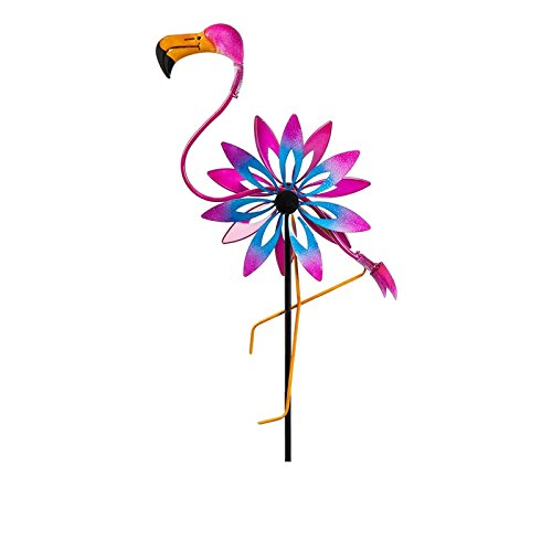 New-Creative-Flamingo-Kinetic-Wind-Spinner-0