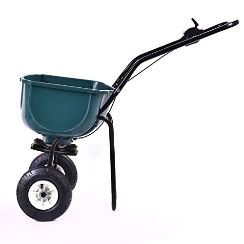 New-Seed-Grass-Spreader-Fertilizer-Broadcast-Push-Cart-Lawn-Garden-Home-Backyard-0-2