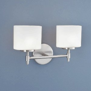 Norwell-Lighting-5322-BN-MO-Moderne-Two-Light-Bath-Bar-Glass-Options-Matte-Opal-Choose-Finish-BN-Brushed-Nickel-0