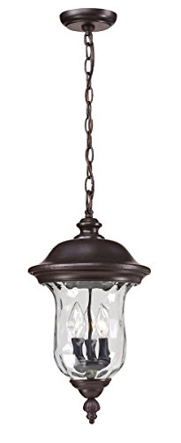Outdoor-Pendant-2-Light-With-Bronze-Finish-Aluminum-Candelabra-Base-Bulb-10-inch-120-Watts-0