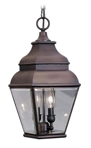 Outdoor-Pendants-2-Light-with-Clear-Beveled-Glass-Bronze-Size-8-in-120-Watts-World-of-Crystal-0
