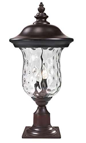 Outdoor-Post-2-Light-With-Bronze-Finish-Aluminum-Candelabra-Base-Bulb-10-inch-120-Watts-0
