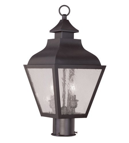Outdoor-Post-2-Light-with-Bronze-Finish-Candelabra-Base-9-inch-120-Watts-World-of-Crystal-0