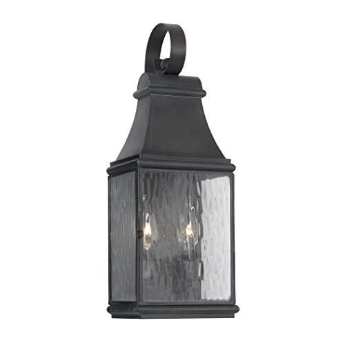 Outdoor-Wall-Lantern-Jefferson-Collection-In-Solid-Brass-In-A-Charcoal-Finish-0