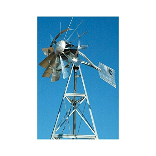 Outdoor-Water-Solutions-AWS0011-12-Feet-Galvanized-3-Legged-Aeration-System-Windmill-0-0