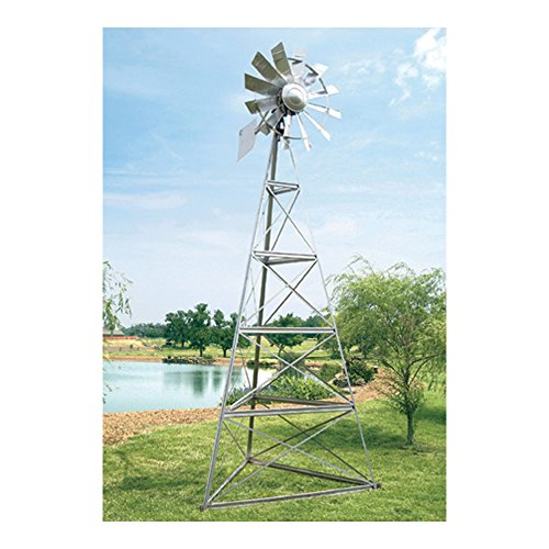 Outdoor-Water-Solutions-AWS0012-16-Feet-Galvanized-3-Legged-Aeration-System-Windmill-0-0