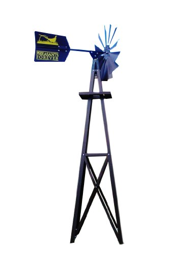 Outdoor-Water-Solutions-BYW0118-Small-Pheasants-Forever-Bronze-Powder-Coated-Backyard-Windmill-0