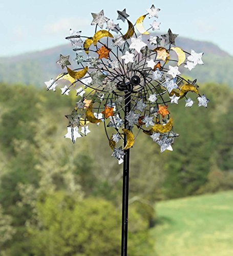 Plow-Hearth-54322-Celestial-Confetti-Garden-Wind-Spinner-0-1