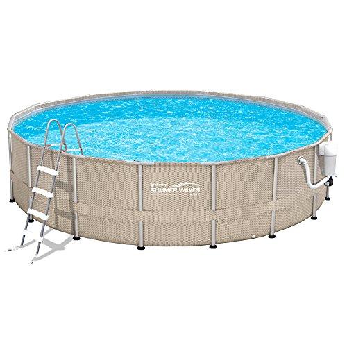 Pool-Package-Light-Wicker-18-Round-Metal-Frame-52-Deep-Summer-Waves-NB2232-0-0