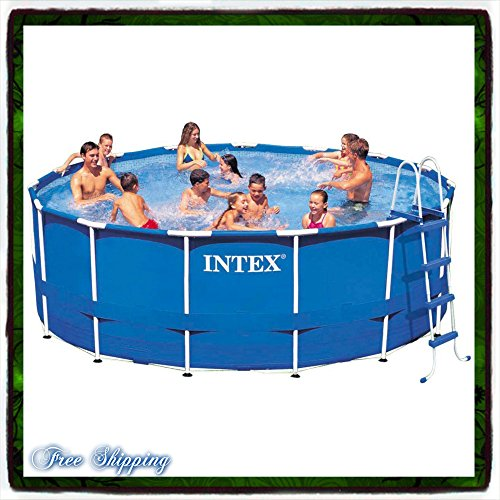 Pool-Swimming-Metal-Frame-Round-15-X-48-Above-Set-w-Filter-Intex-Pump-Filter-Pools-Swim-Discount-Patio-Family-Backyard-Summer-Fun-Wall-Walled-Safety-New-Guarantee-with-Its-Only-Ebook-0