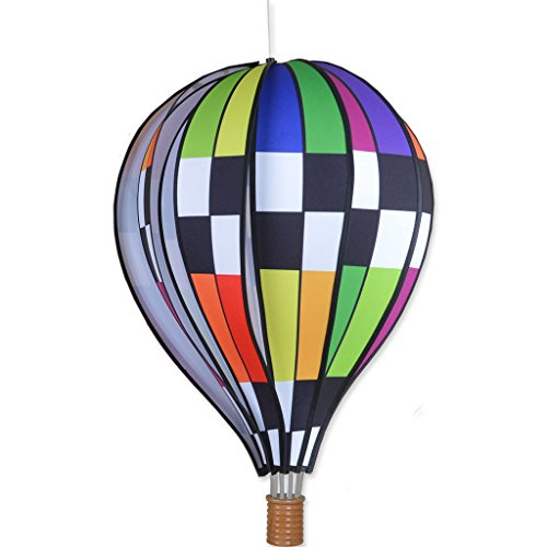 Premier-Kites-22-in-Hot-Air-Balloon-Checkered-Rainbow-0