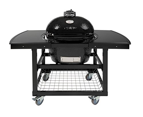 Primo-Oval-LG-300-Ceramic-Smoker-Grill-On-Cart-with-2-Piece-Island-Top-0