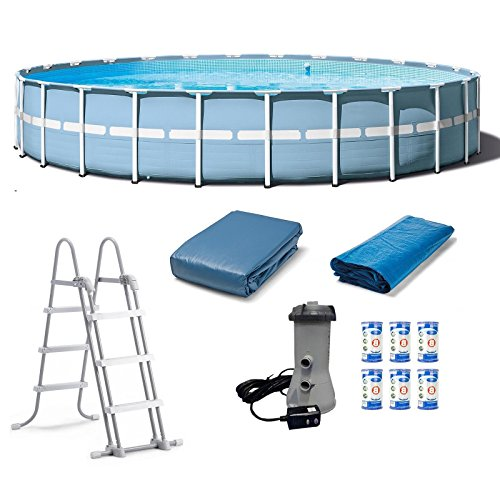 Prism-Frame-Pool-Set-Water-Swimming-Pools-24-x-52-Above-Ground-Pool-Floats-Round-Frame-Set-With-Ladder-Cover-Pump-Filter-Cartridges-Skroutz-0
